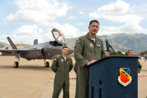AeroSession Colonel David B. Lyons, Commander, 388th Fighter Wing, Hill Air Force Base, Utah photo